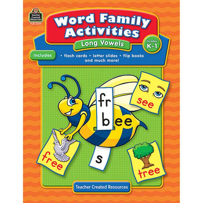 Word Family Activities Long Vowels Gr K-1 By Teacher Created Resources