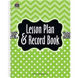 Lime Chevrons And Dots Lesson Plan & Record Book, TCR2384