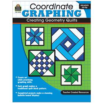Coordinate Graphing Creating Geometry Quilts Gr 4 & Up By Teacher Created Resources
