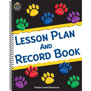 Paw Prints Lesson Plan And Record Book By Teacher Created Resources