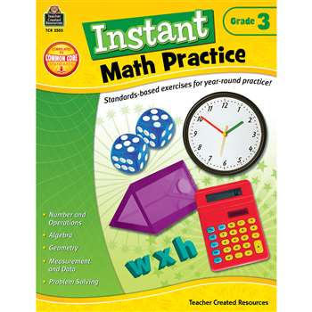 Instant Math Practice Gr 3 By Teacher Created Resources