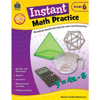 Instant Math Practice Gr 6 By Teacher Created Resources