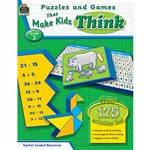 Puzzles And Games That Make Kids Think Gr-3 By Teacher Created Resources