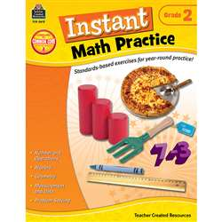 Instant Math Practice Gr 2 By Teacher Created Resources