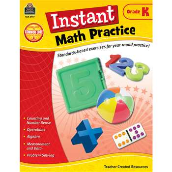 Instant Math Practice Gr K By Teacher Created Resources
