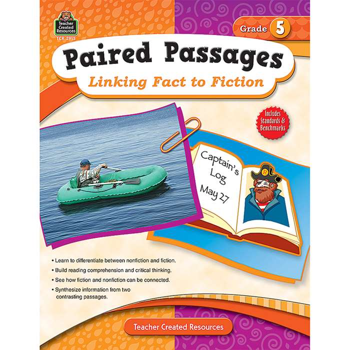 Paired Passages Linking Fact To Fiction Gr 5 By Teacher Created Resources