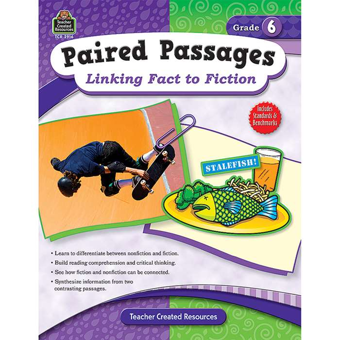 Paired Passages Linking Fact To Fiction Gr 6 By Teacher Created Resources