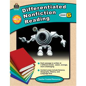 Differentiated Nonfiction Reading Gr 6 By Teacher Created Resources