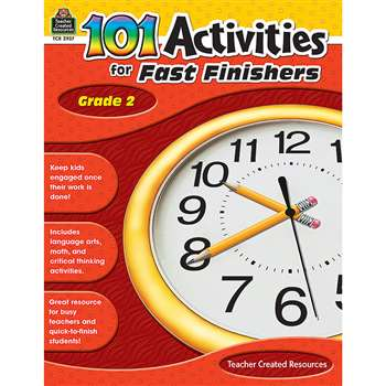 Gr 2 101 Activities For Fast Finishers By Teacher Created Resources