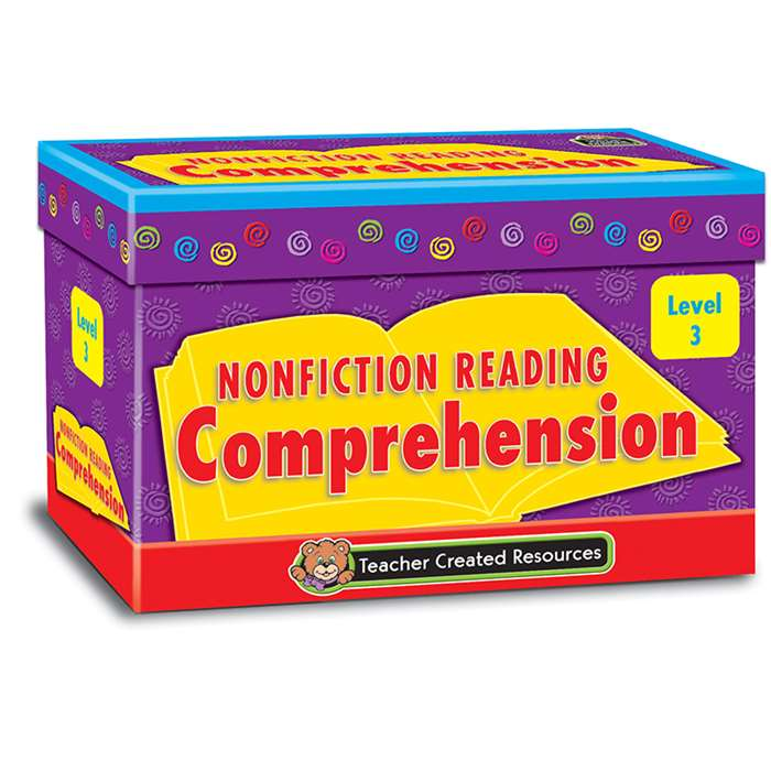 Nonfiction Comprehension Cards Lvl3 By Teacher Created Resources