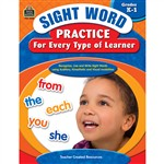 Sight Word Practice For Every Type Of Learner Gr K-1 By Teacher Created Resources