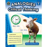 Gr 4 Analogies For Critical Thinking By Teacher Created Resources