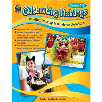Celebrating Holidays Gr 3-4, TCR3178
