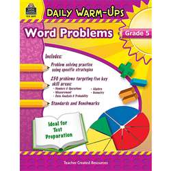 Daily Warm Ups Word Problems Gr 5 By Teacher Created Resources