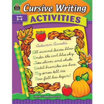 Cursive Writing Activities By Teacher Created Resources