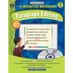 Interactive Learning Gr 3 Paragraph Editing W/Cd By Teacher Created Resources