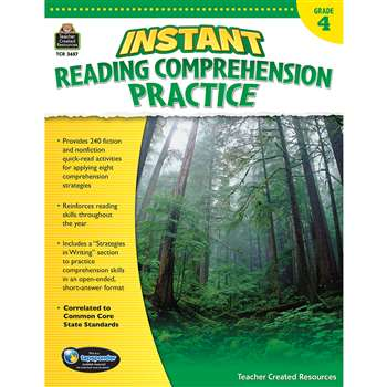 Instant Reading Gr 4 Comprehension Pratice, TCR3657