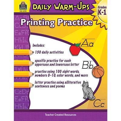 Daily Warm Ups Printing Practice, TCR3770