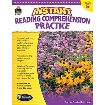 Instant Reading Gr 5 Comprehension Pratice, TCR3834