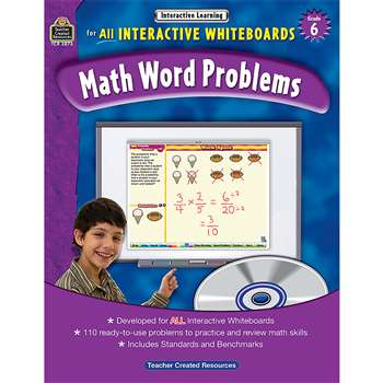 Interactive Learning Gr 6 Math Word Problems By Teacher Created Resources