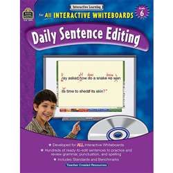 Interactive Learning Gr 6 Daily Sentence Editing Bk W/Cd By Teacher Created Resources