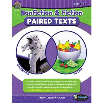 Nonfiction Fiction Paired Texts Gr4, TCR3894