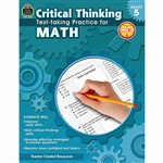 Gr 5 Critical Thinking Test Taking Practice For Ma, TCR3952