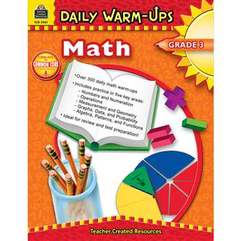 Daily Warm-Ups Math Gr 3 By Teacher Created Resources