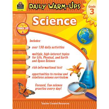 Daily Warm Ups Science Gr 3, TCR3968
