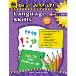 Daily Warm Ups Language Skills Gr 6 By Teacher Created Resources