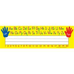 Left Right Alphabet 36Pk Flat Name Plates By Teacher Created Resources