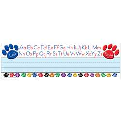 Paw Prints Left/Right Alphabet Name Plates By Teacher Created Resources