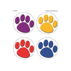 Colorful Paw Prints Wear Em Badges By Teacher Created Resources