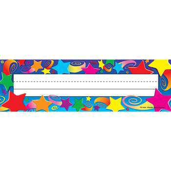 Stars Flat Name Plates 36Pk 3-1/2 X 11-1/2 By Teacher Created Resources