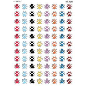 Me Puppy Paw Prints Mini Stickers By Teacher Created Resources