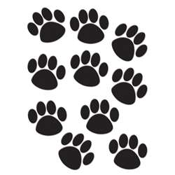 Accents Black Paw Prints By Teacher Created Resources