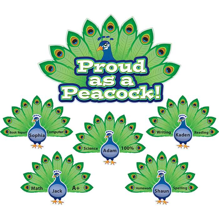 Proud As A Peacock Bulletin Board Set By Teacher Created Resources