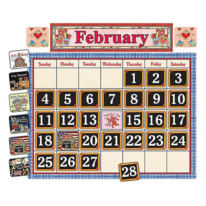 School Time Calendar Bulletin Brd By Teacher Created Resources