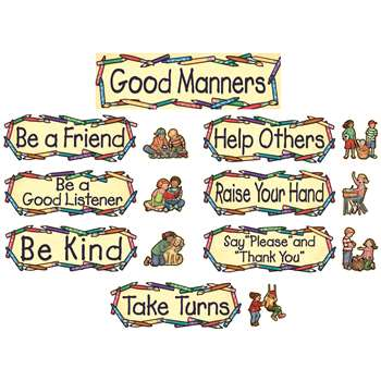 Sw Good Manners Mini Bulletin Board Set By Teacher Created Resources