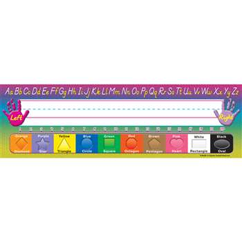 Modern Printing 36Pk Flat Name Plates 3-1/2 X 11-1/2 By Teacher Created Resources