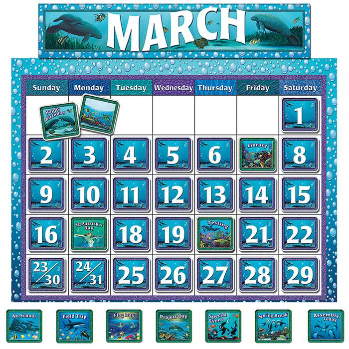 Classroom Calendar Bulletin Board From Wyland By Teacher Created Resources