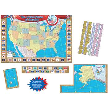 Us Map Bulletin Board Set 36X24 By Teacher Created Resources