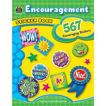 Encouragement Sticker Book By Teacher Created Resources