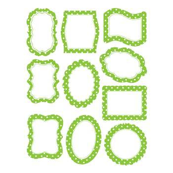 Lime Polka Dots Frame Accents, TCR4475