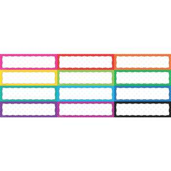 Polka Dot Blank Headliners By Teacher Created Resources