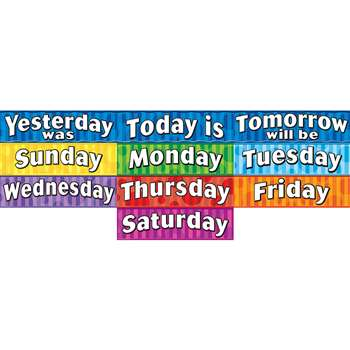 Days Of The Week Headliners By Teacher Created Resources