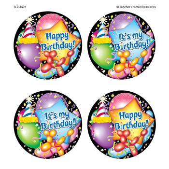 Happy Birthday Wear Em Badges By Teacher Created Resources