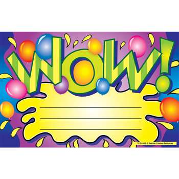 Wow Awards 25Pk 8-1/2 X 5-1/2 By Teacher Created Resources