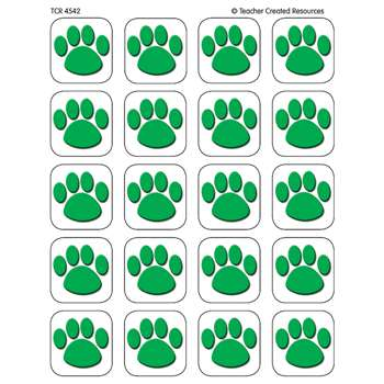 Green Paw Print Stickers By Teacher Created Resources
