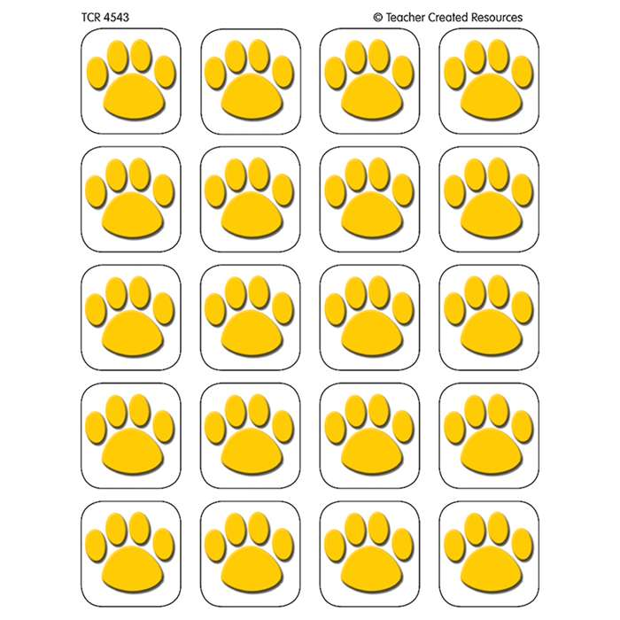 Gold Paw Print Stickers By Teacher Created Resources